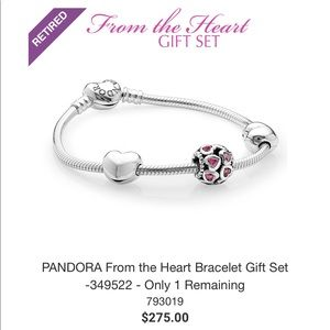 NEW! Retired Pandora Valentine Bracelet Gift Set